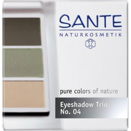 Sante Trio ombretti polvere natural green Nº 04