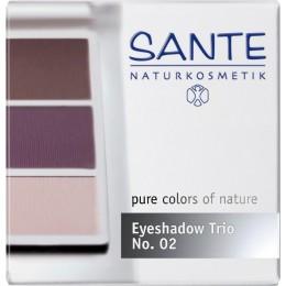 Sante Trio ombretti in polvere aubergine Nº 02