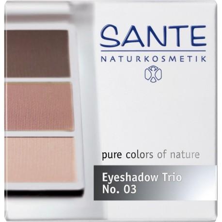 Sante Trio ombretti in polvere rose wood Nº 03