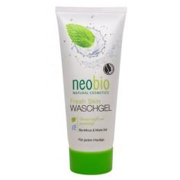 Neobio Gel detergente viso pelle fresca Bio Menta e Sale Marino