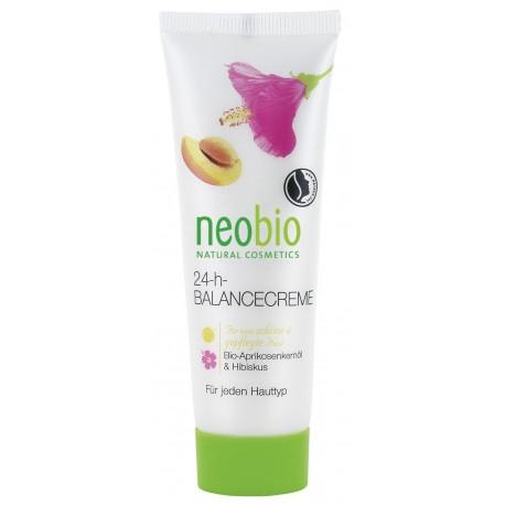 Neobio Crema Balance Viso 24 ore Bio con Ibisco e Noccioli di albicocca
