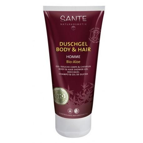 Sante Gel doccia corpo e capelli uomo Aloe & Te Bianco