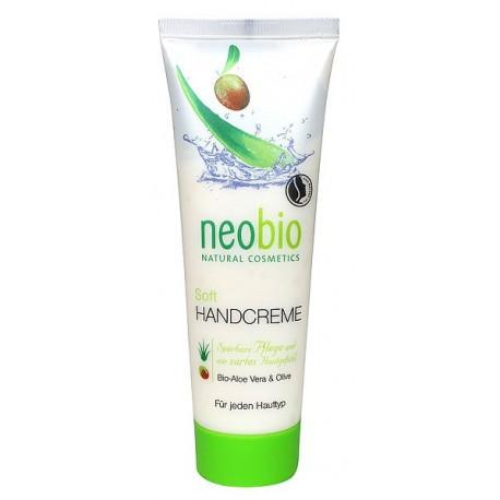 Neobio Crema mani soft Aloe Vera ed olio di Oliva Bio protezione e morbidezza