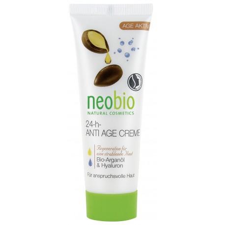 Neobio Crema Anti Age Viso 24 h Bio con Ibisco e Noccioli di albicocca