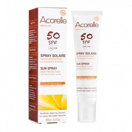 ACORELLE Solare Baby  corpo viso Spray SPF 50 100% Naturale Bio