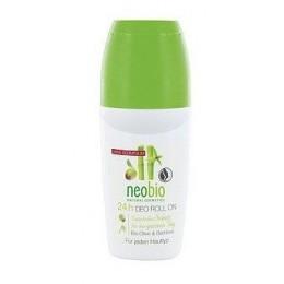 Neobio Deodorante Roll On senza sali di Alluminio Bio Olive e Bamboo