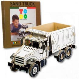 Todo SAND TRUCK camion in cartone