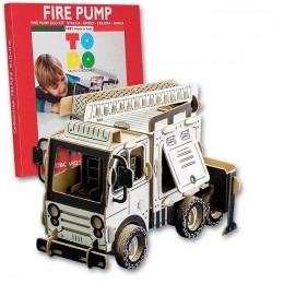 Todo FIRE PUMP camion pompieri in cartone