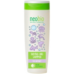 NEOBIO Bagno e Shampoo Bambini Bio Aloe e Bio Calendula