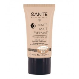 SANTE Matte Matt Evermat™ Mineral fondotinta Make up 03 Dorato